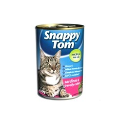 Snappy Tom pets food with Sardines in trevally cutlets 400g