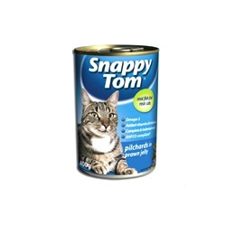 Snappy Tom cat food Pilchards in Prawn Jelly 400g