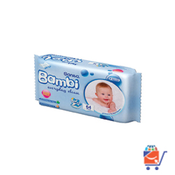Sanita Bambi Everyday Clean Wipes ,64 Wipes