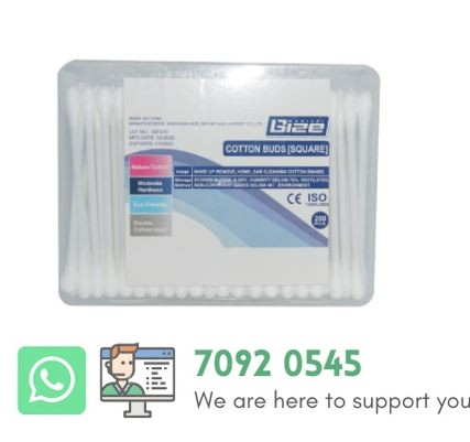 """COTTON BUDS [SQAURE] 3"""" 200'S -128121"""