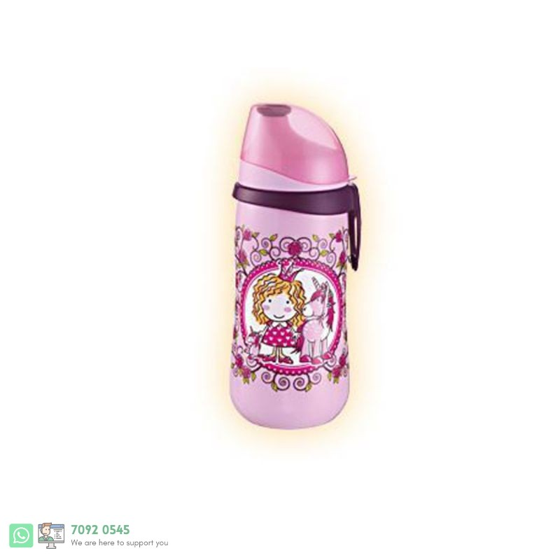 KIDS CUP PUSH PULL LID GIRL 330ML [350526]  125324