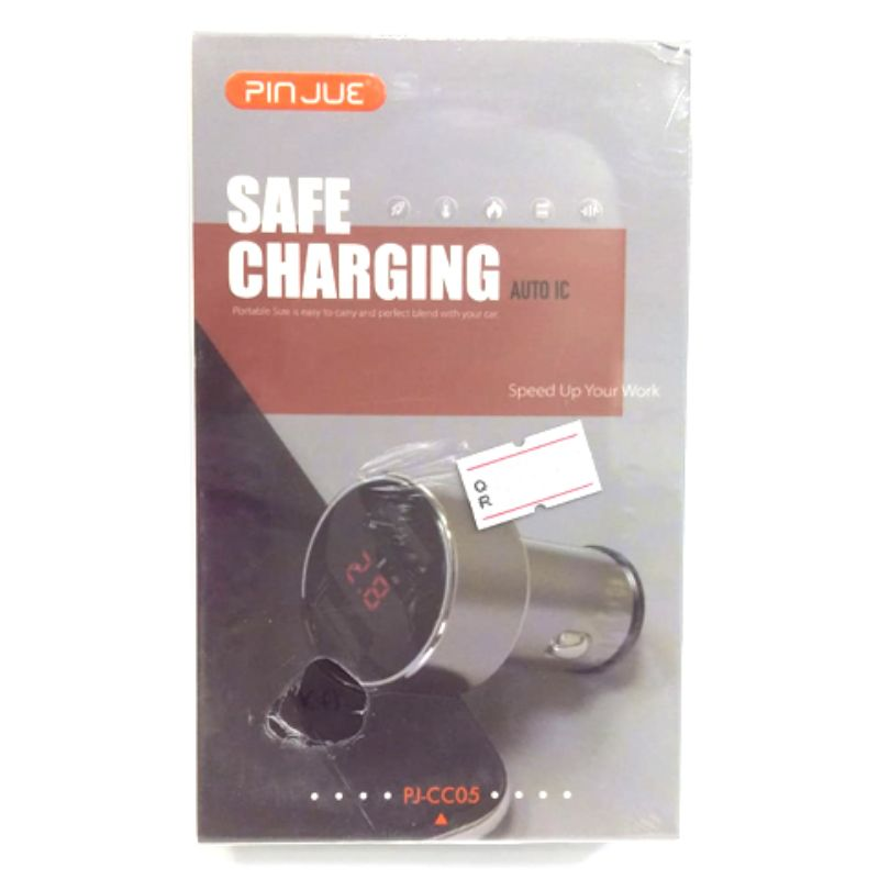 PINJUE Car charger with digital disply