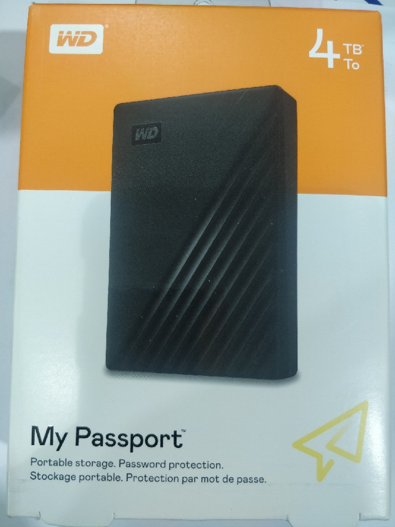 WD 4TB My Passport with Password Protection