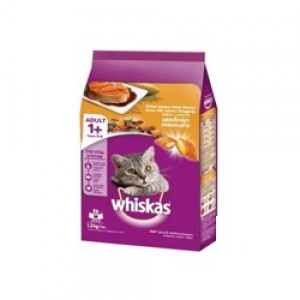 Whiskas Grilled Salman Steak Flavor Cat Food , 1.2kg