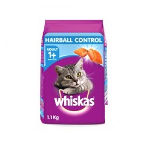 Whiskes HairBall Control Cat Food, Chicken and Tuna flavor , 1.1kg