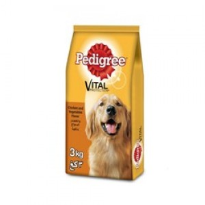 Pedigree Adult Dog Food Chicken & Vegitable Flavor 3kg