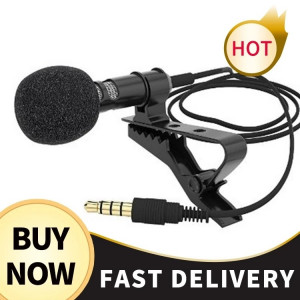 Mini Microphone Condenser Clip-on Lapel Lavalier Mic Wired for Phone Laptop For Phone Portable Mini Stereo HiFi Sound Quality